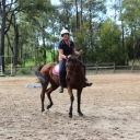 Erin Riding With Halter & Lead