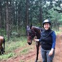 Guest rider Mary and her stead