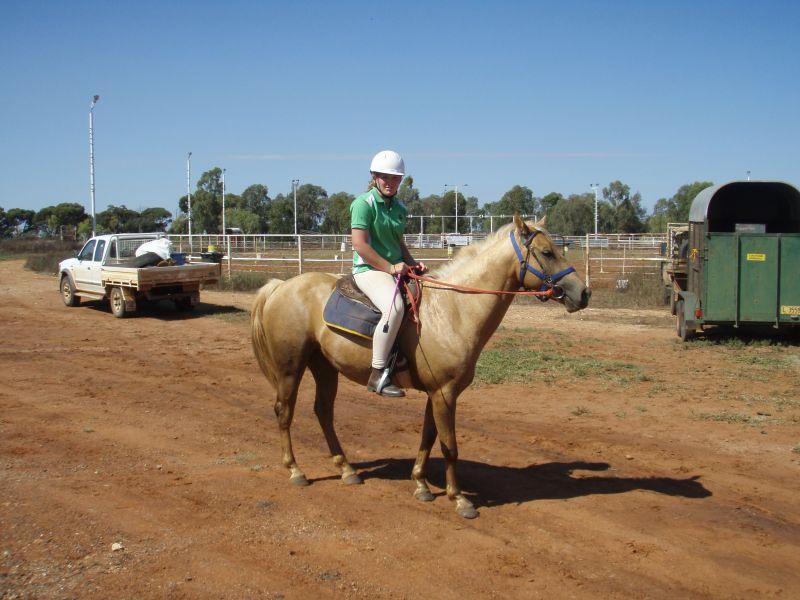 Chloe before ride