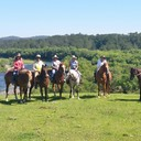 Group photo overlooking the Macleay River at Yessabah