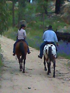 Steve on Oscar & Sharon on Jack heading out