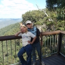 Cameron and Jayme-Lee at Kroombit Tops