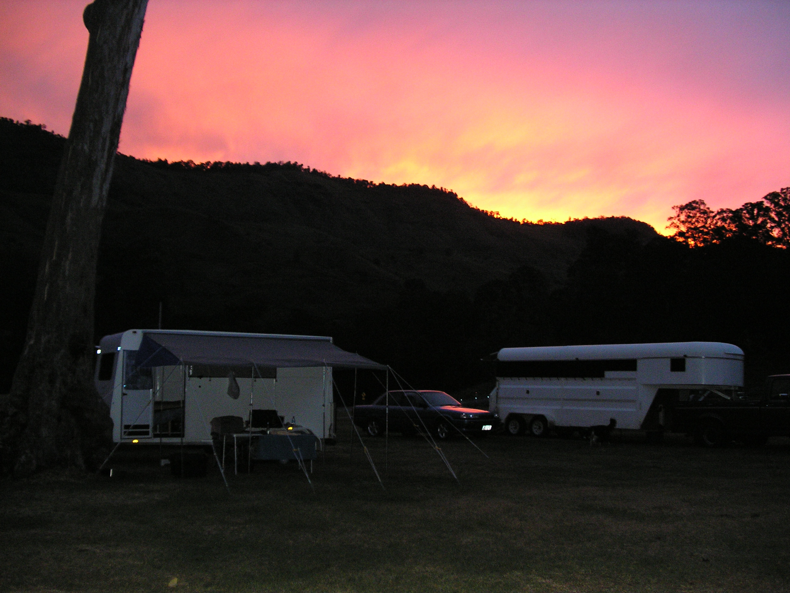 A spectacular sunset over the Border Ranges
