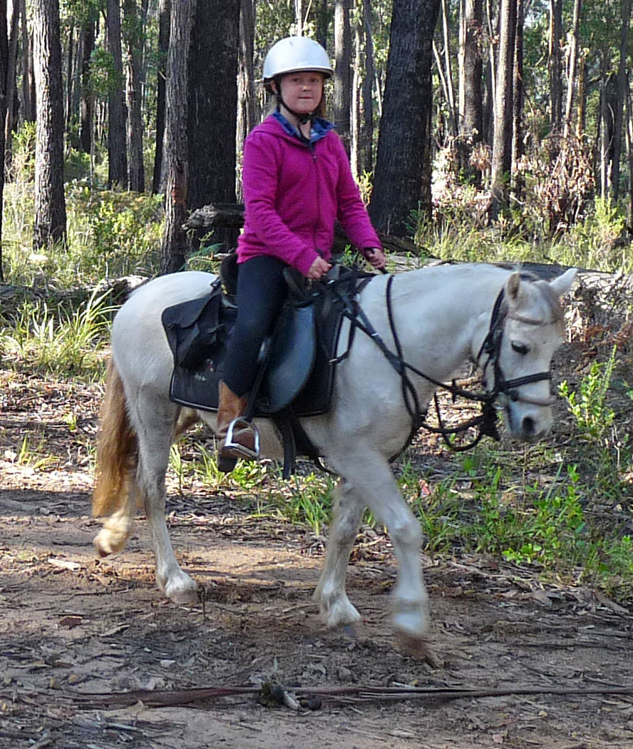 Emma Alexander and her pony Jellybean made a great combination on the ride.