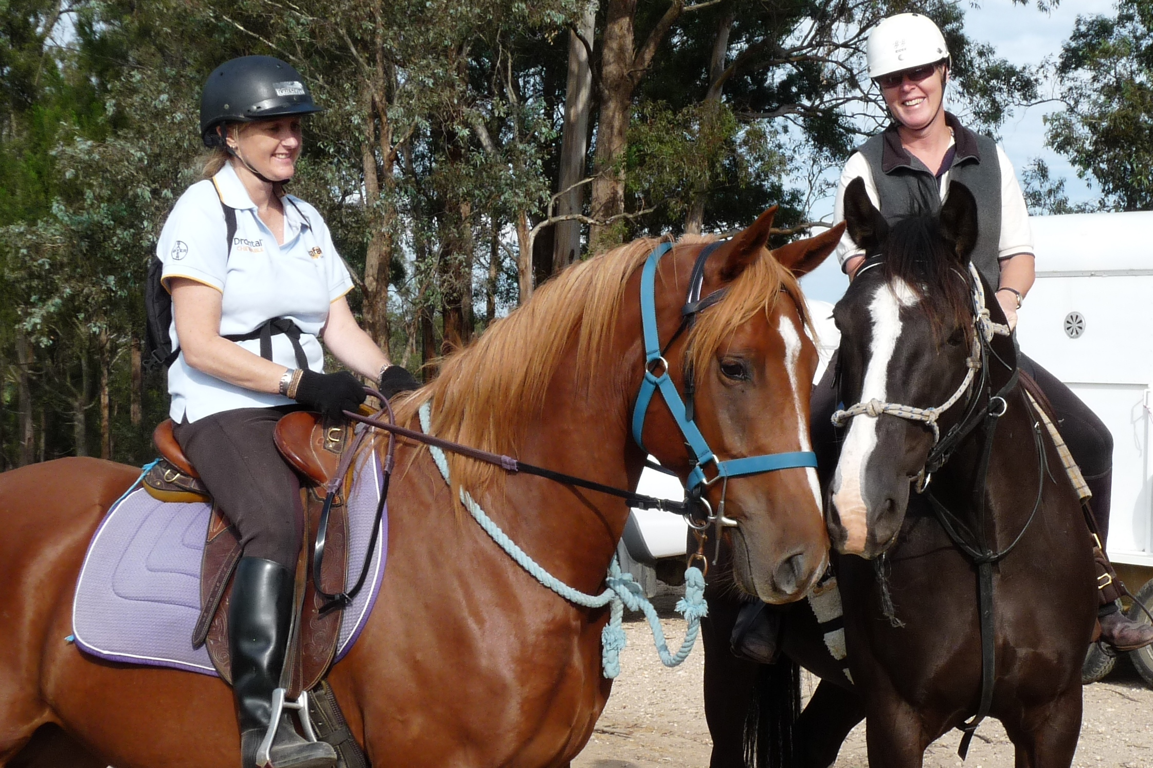Jodie Hellmuth and Debbie Carstairs enjoyed their ride.