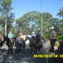 Chaney, Kellie, Tory, Joan, Beth, Craig and Jess ready to ride out on a Trail Ride