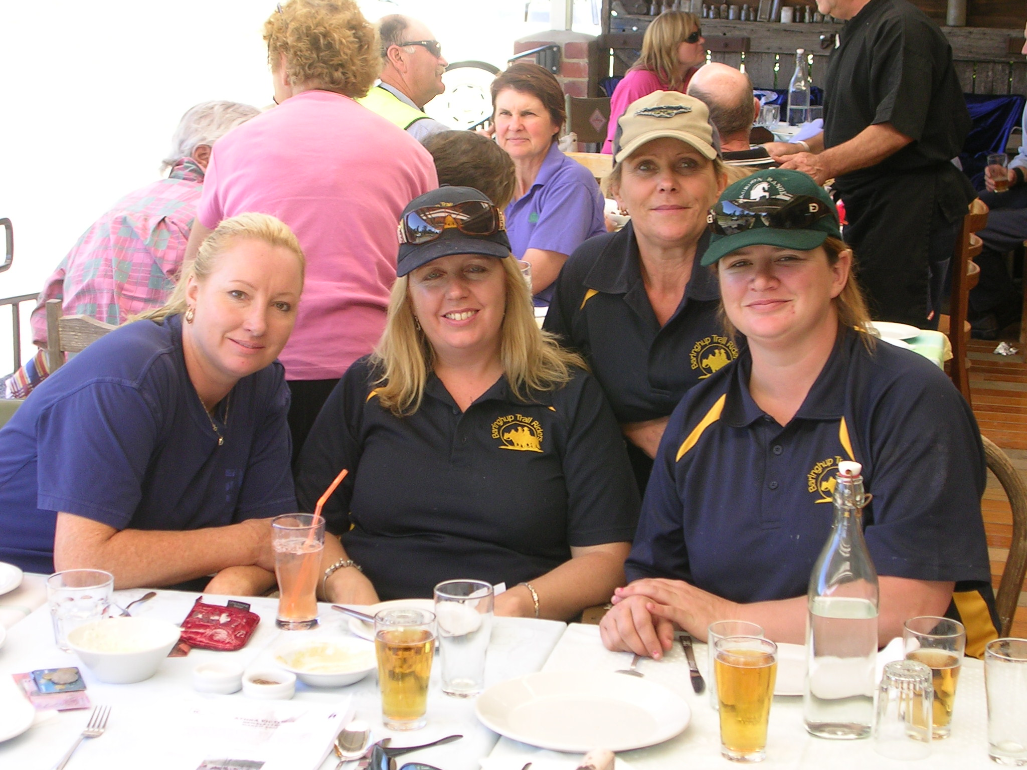 Some of the BTR faithfull at lunch. Babs, Sharon, Evelyn & Chantelle