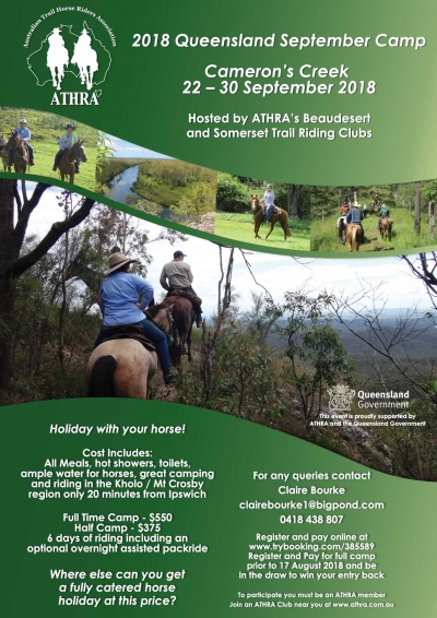 ATHRA 2018 QLD September Camp